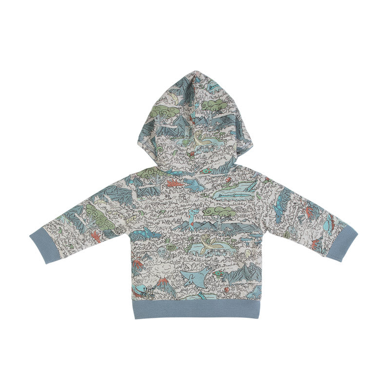 Reversible Hoodie - Dino Forest