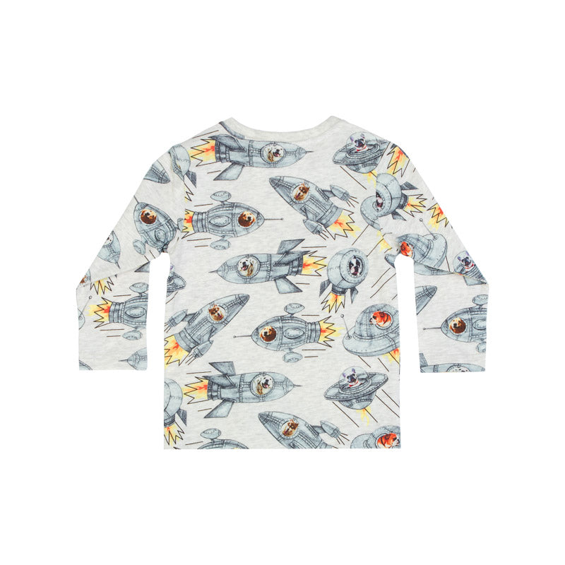 Classic Long Sleeve T-Shirt - Dogs in Space