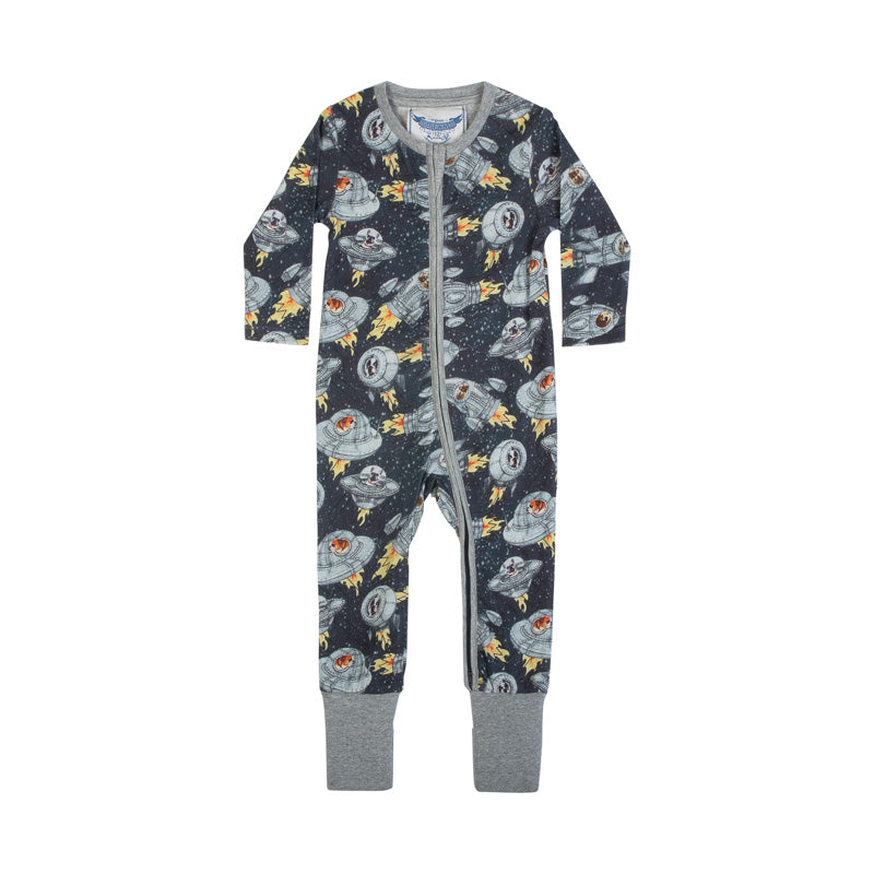 Zip Up Romper - Dogs in Space