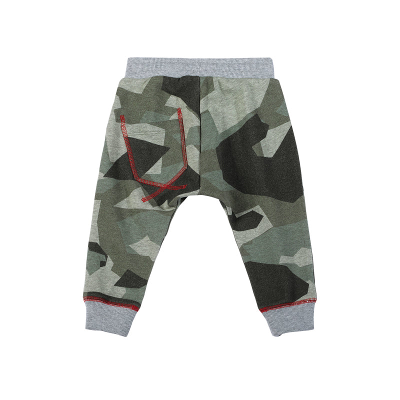 Patch Pocket Trackies - Camo Green