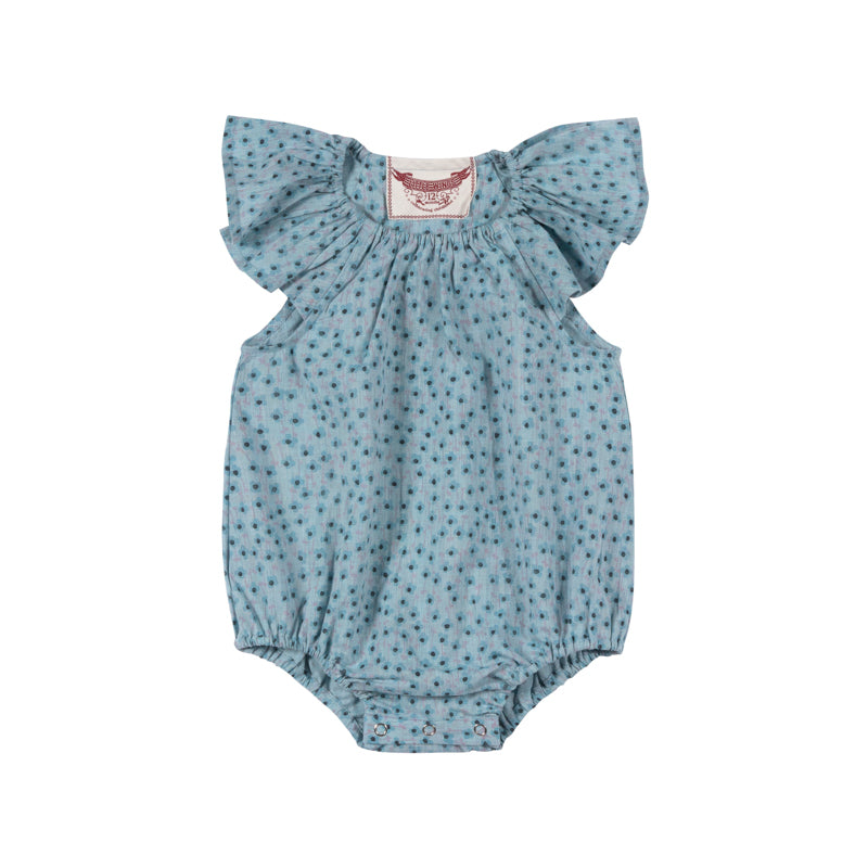 Frilled Shoulder Onesie - Texta Spot Flowers