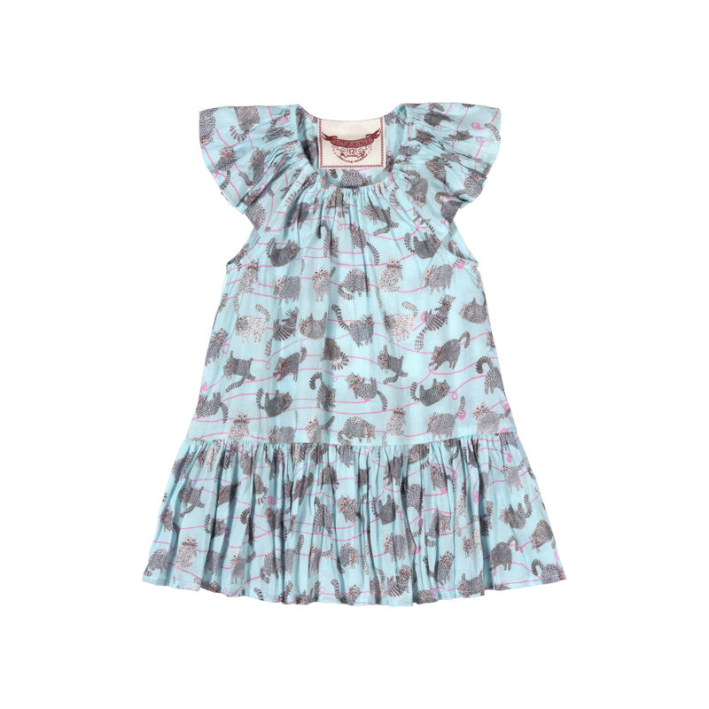Frilled Shoulder Dress - Yarn Kitty