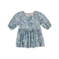 Onsie Dress Blue  - Tattoo Flowers