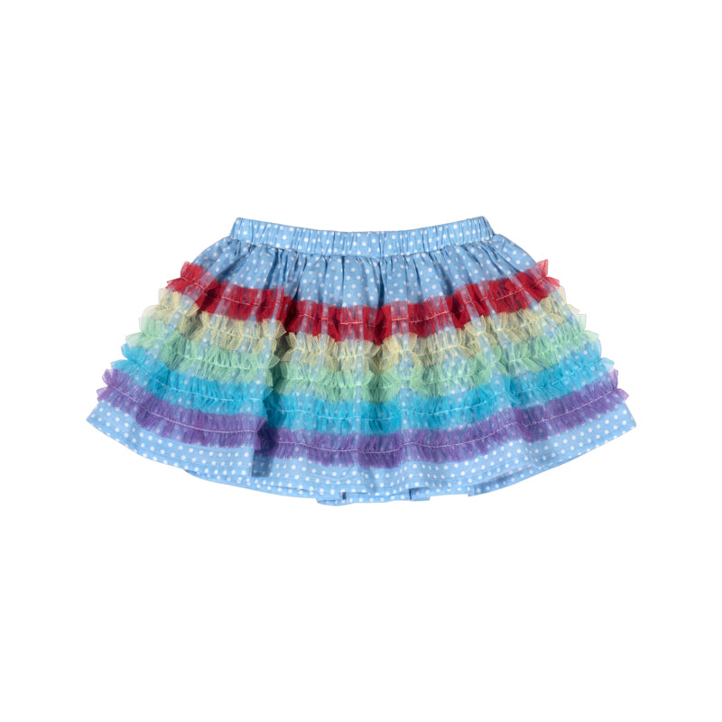 Gathered Skirt with Frills
