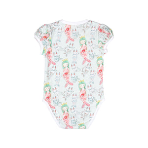 Puffed Sleeve Onesie  - Little Mermaid