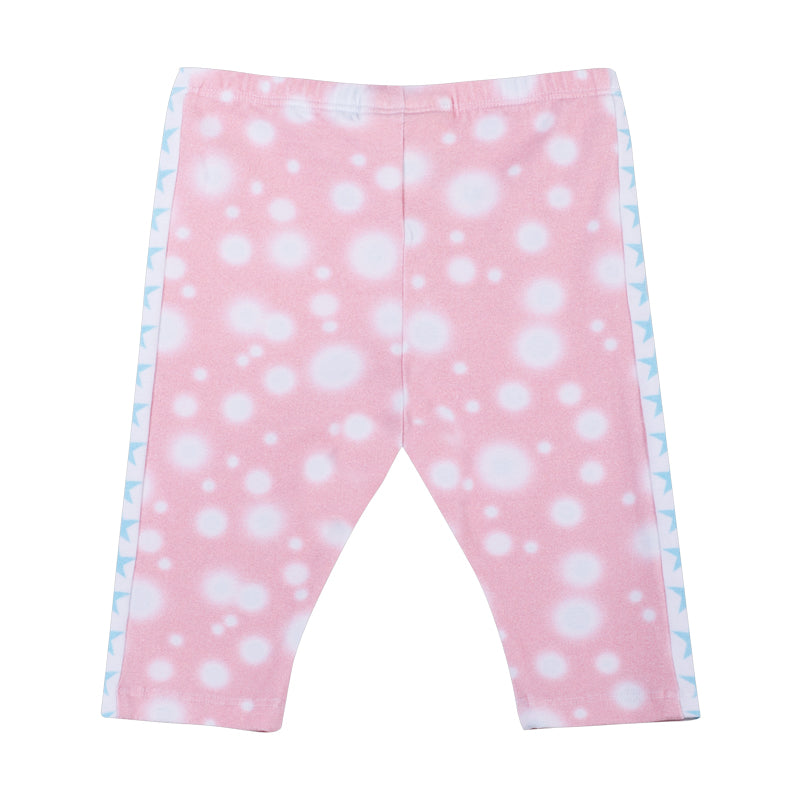 3/4 leggings- Blurry Stripe Pink