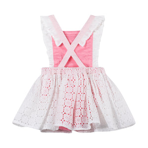 Frilled Pinafore - Lace