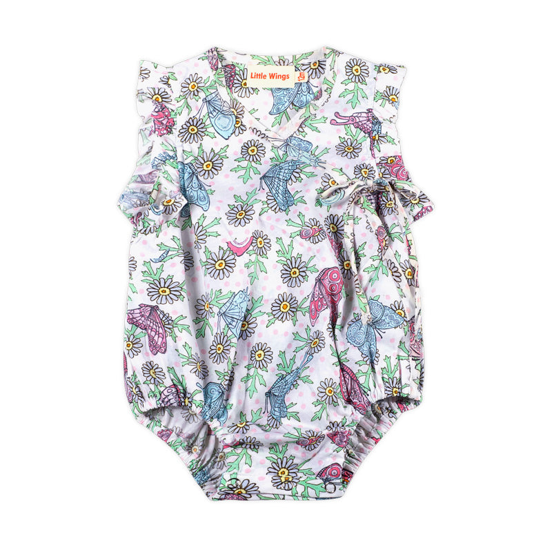 Cross Over Romper - Butterfly Daisies