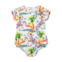 Short Sleeve Bustle One-piece  - Tropical Mermaid