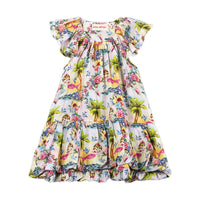 Frilled Bubble Dress - Tropical Mermaid