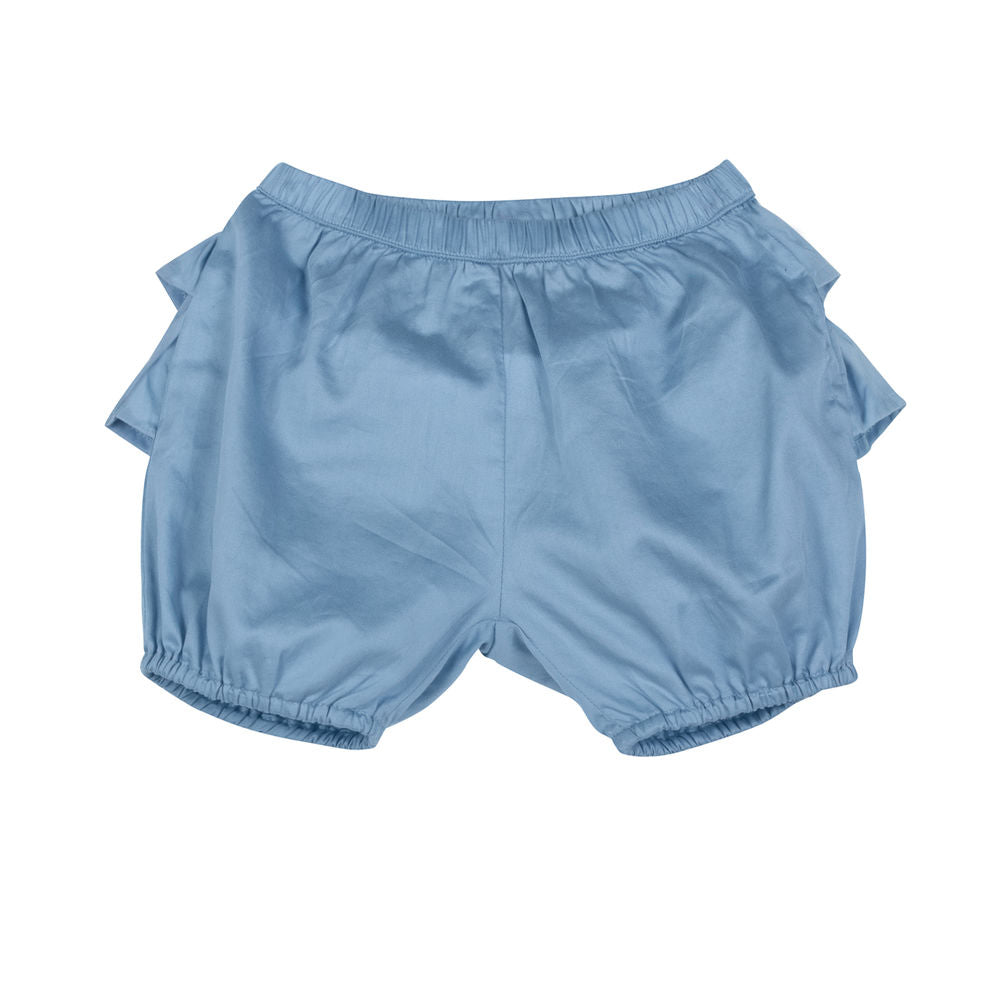 Frilled Blue Sateen Bloomers