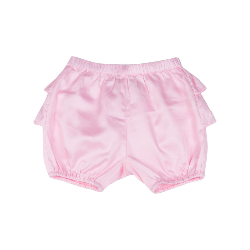 Frilled Pink Sateen Bloomers