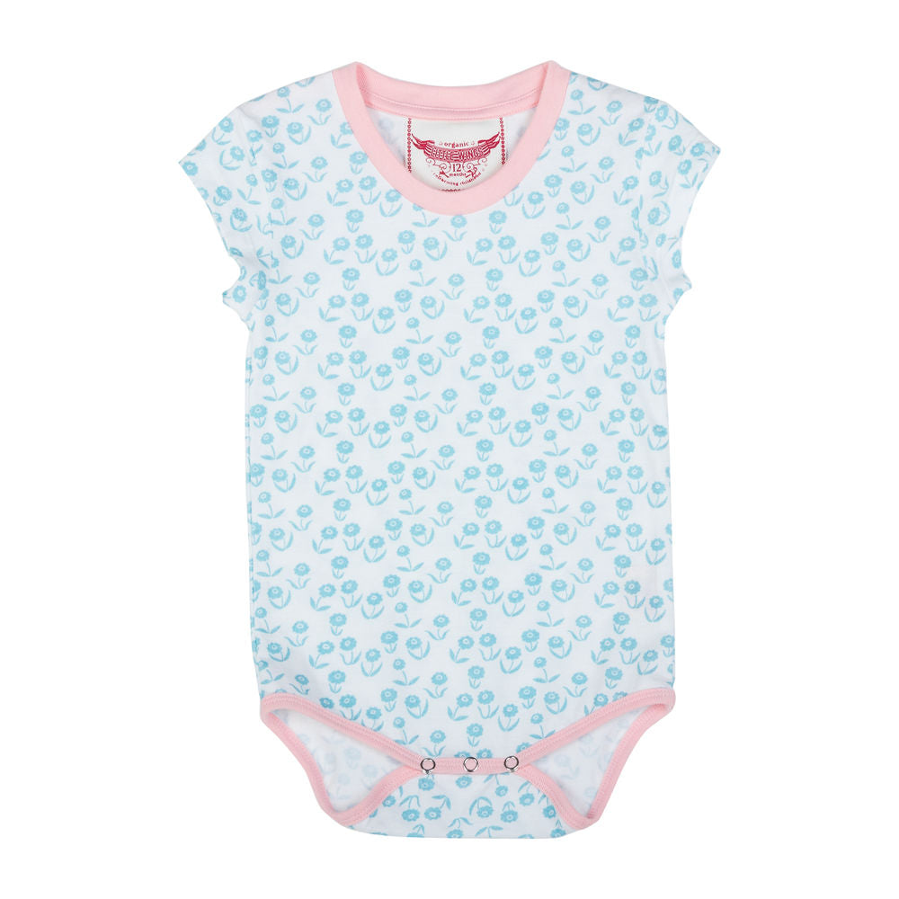 T-shirt Onesie - Retro Flowers