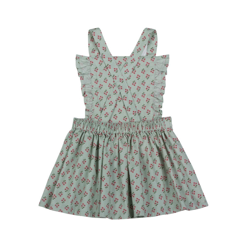 Frilled Pinafore Skirt - Vintage Flowers