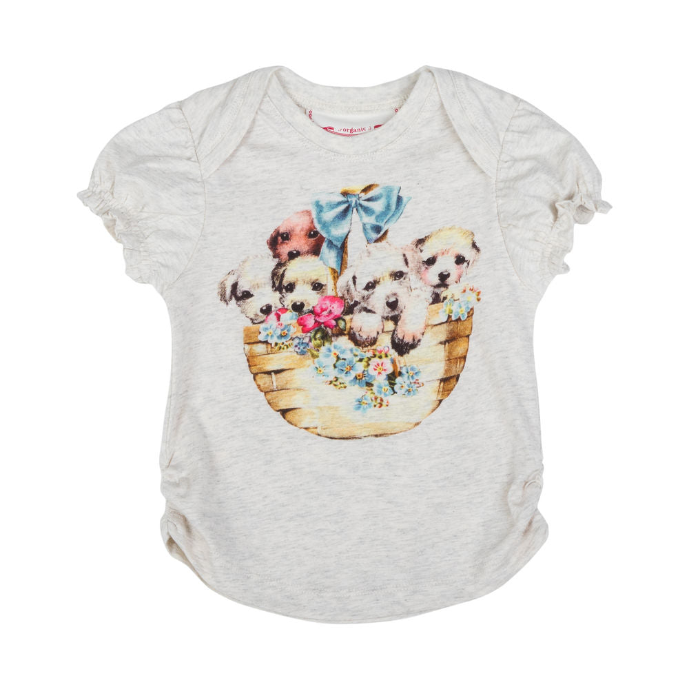 Puff Sleeve T-shirt - Puppy Basket