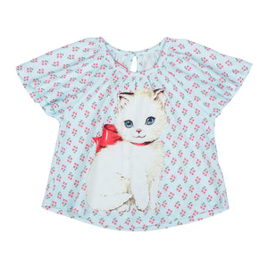 Smock T-shirt - Retro Kitten