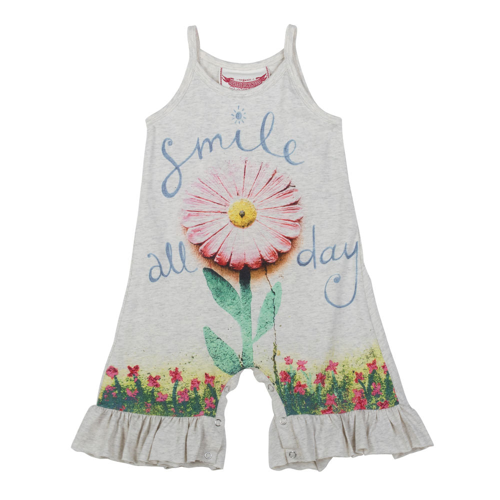 Frilled Singlet Romper - Smile All Day