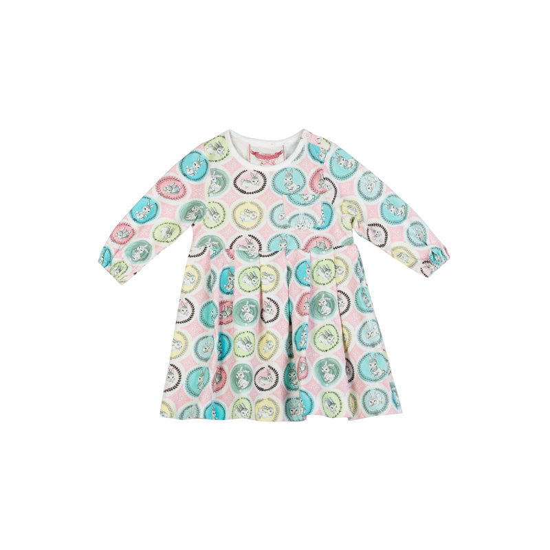 Pleated Jersey Smock - Bunny Cameo