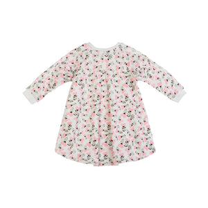 Fleece Sweater Dress - Heart Flowers