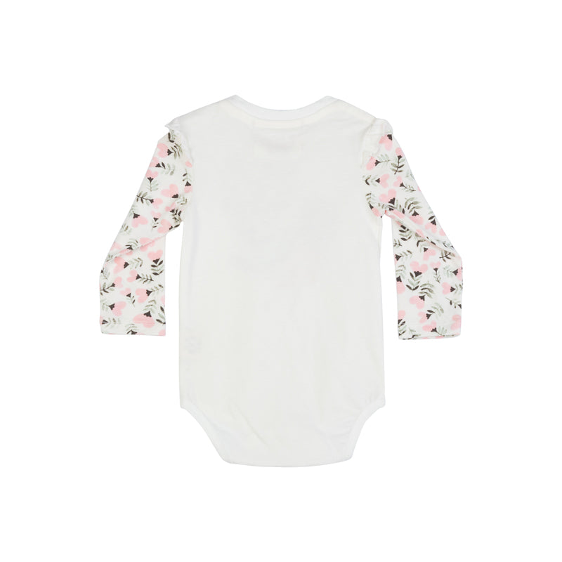 Classic Onesie with Shoulder Frills - Heart Tale