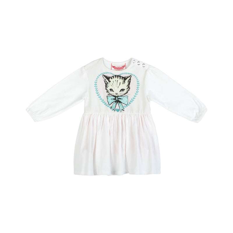 Loose fit Onesie Dress - Heart Kitten