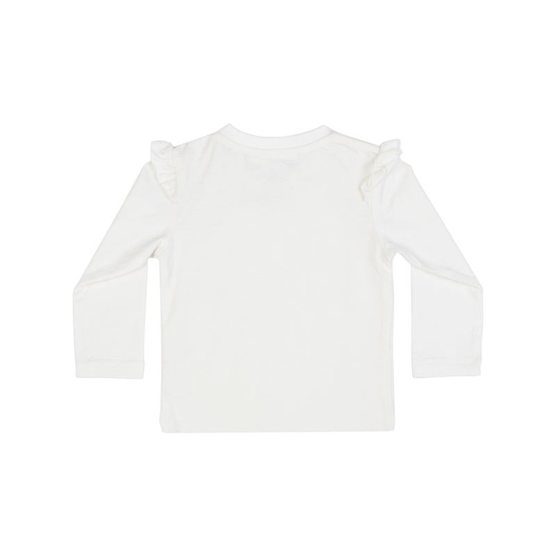 T-Shirt with Shoulder Frills - Cameo Bunny