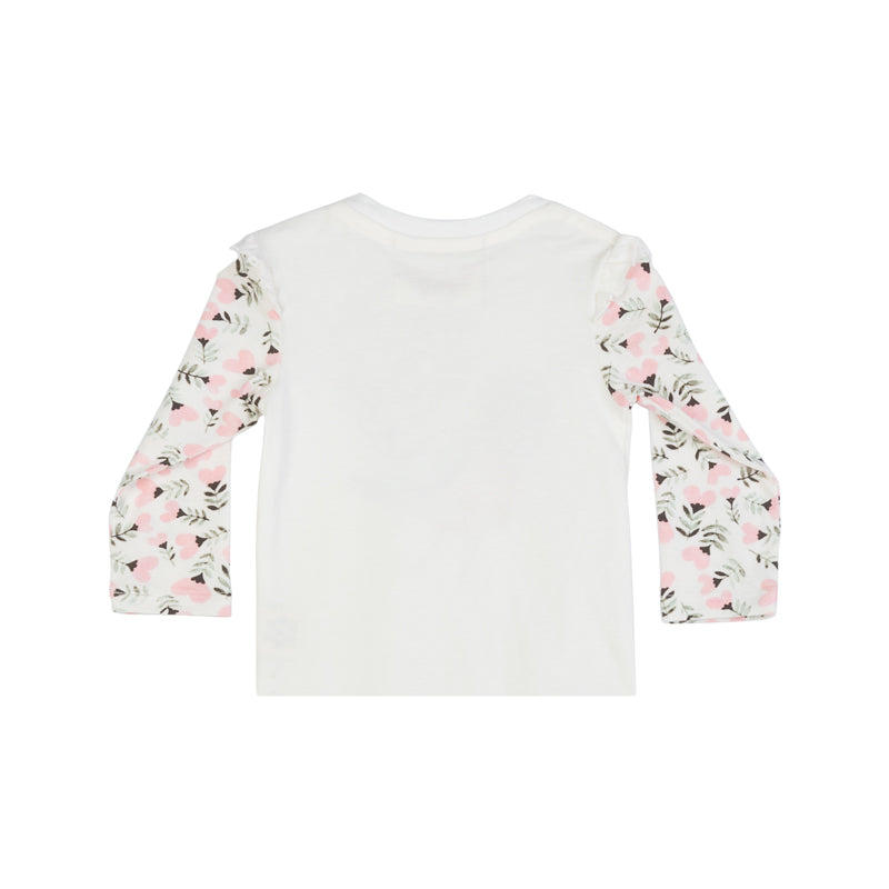 T-Shirt with Shoulder Frills - Heart Tale