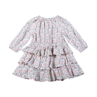 Frilled Smock Dress - Vintage Birds