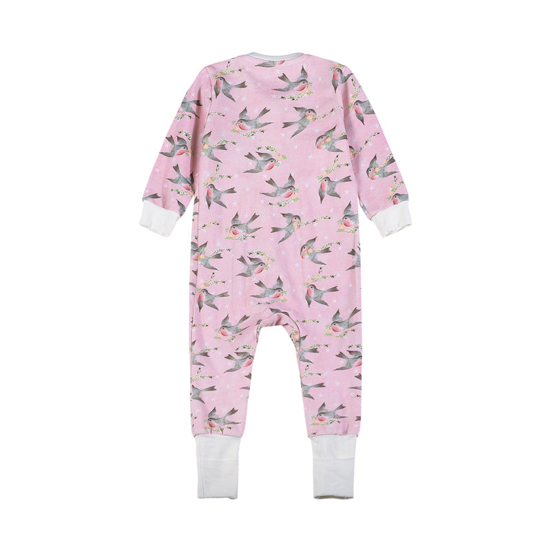 Classic Romper - Birds and Stars
