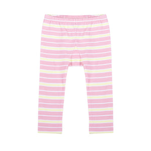 Leggings - Pink and Yellow Stripe