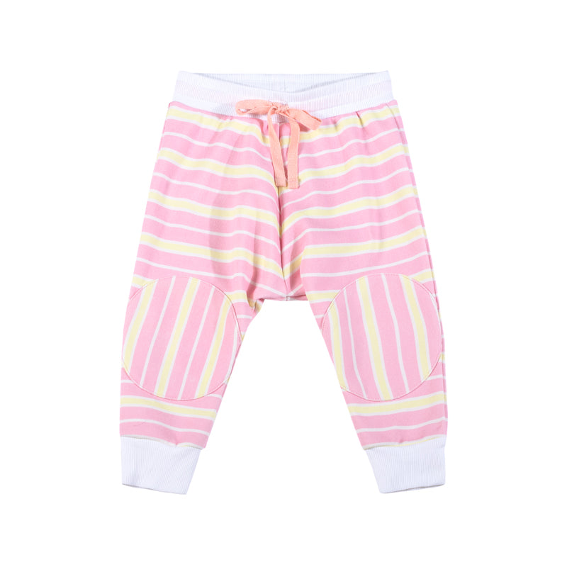 Reversible Trackies - Pink and Yellow Stripe