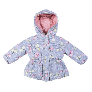 Puffer Jacket - Butterfly Sparkle