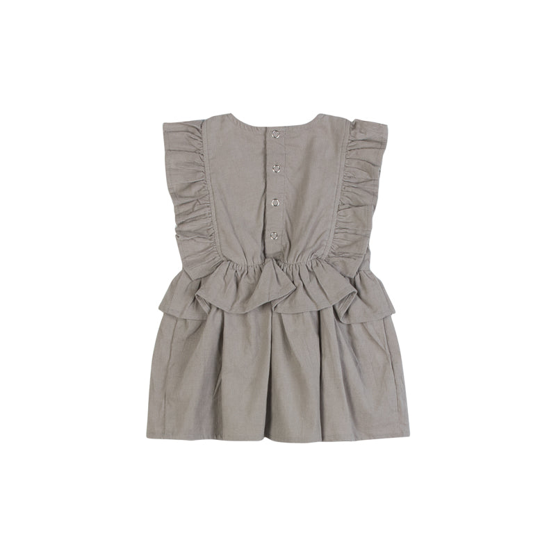 Frilled Corduroy Pinafore