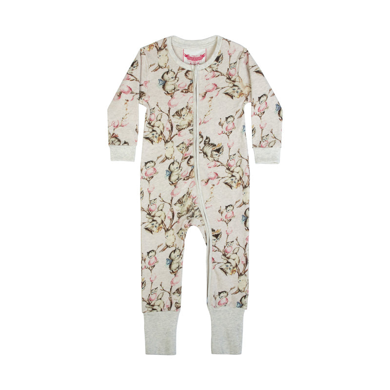 Zip Up Romper - Kitty Willow