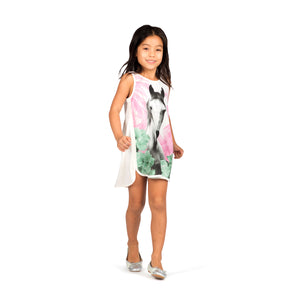 Singlet Dress with Binding - Jungle Horse