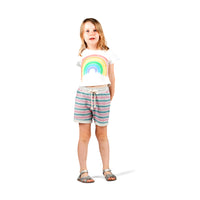 Cuff Trackie Shorts  - Texta Stripe with Spots