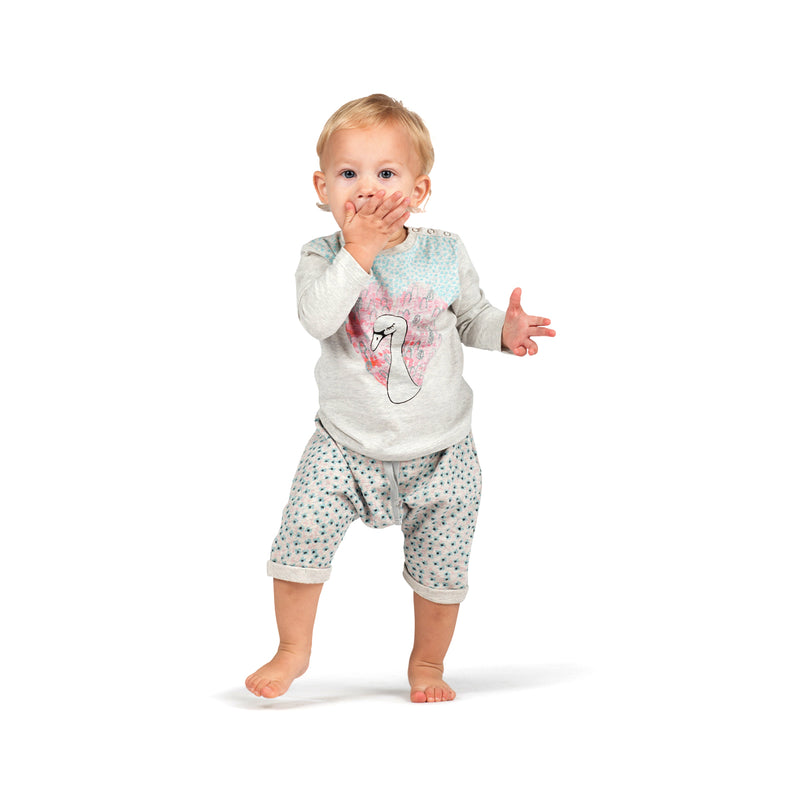 Light Fleece Trackies - Texta Flower Spot