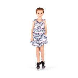 Frilled Romper with Ties - Dream Field