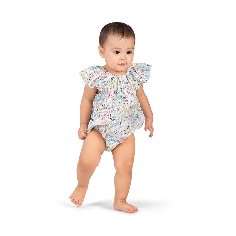 Frilled Bloomer Romper - Spring