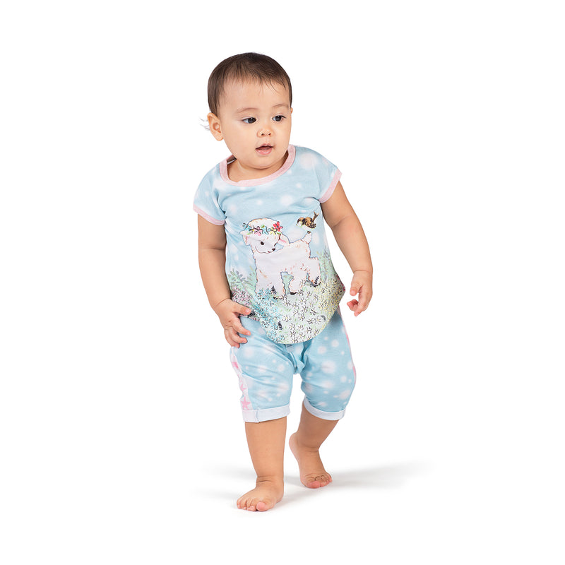 Cuff Trackies- Blurry Spot Blue