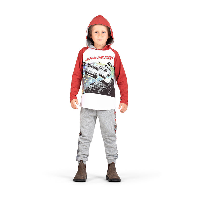 Hooded Raglan T-Shirt - Chasing Stars