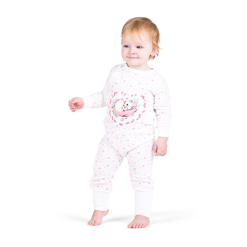 Classic Raglan Romper - Sleepy Kitty