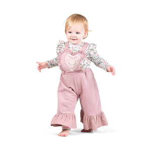 Frilled Onesie - Raspberry Dreams