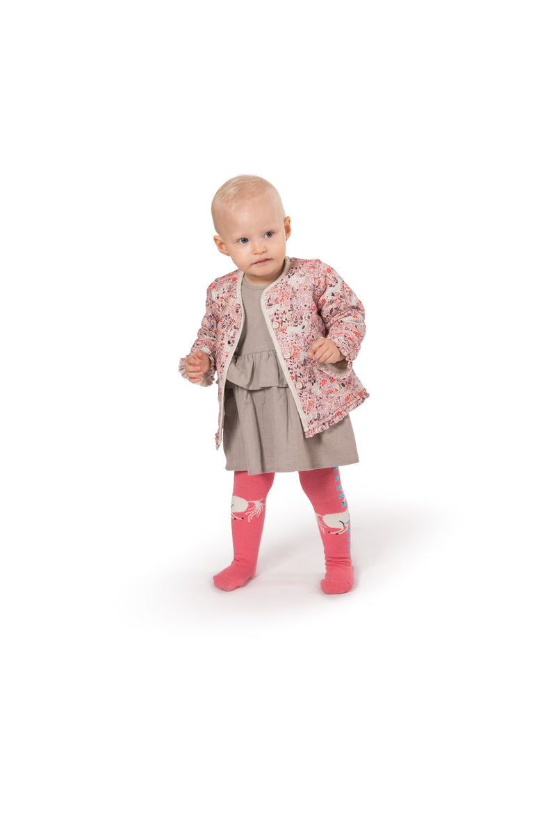 Frilled Quilted Jacket - Unicorn Field