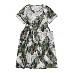 Womens Short Sleeve Raglan T-shirt Dress - Cockatoo