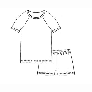 Kids Short Sleeve Raglan T-shirt and Shorts Set - Bisons