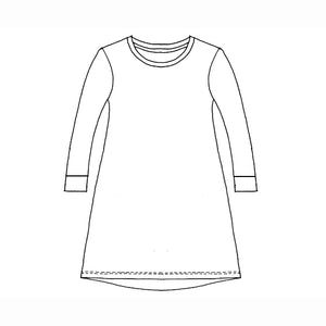 Kids Long Sleeve Raglan Nightie - Winter Roses