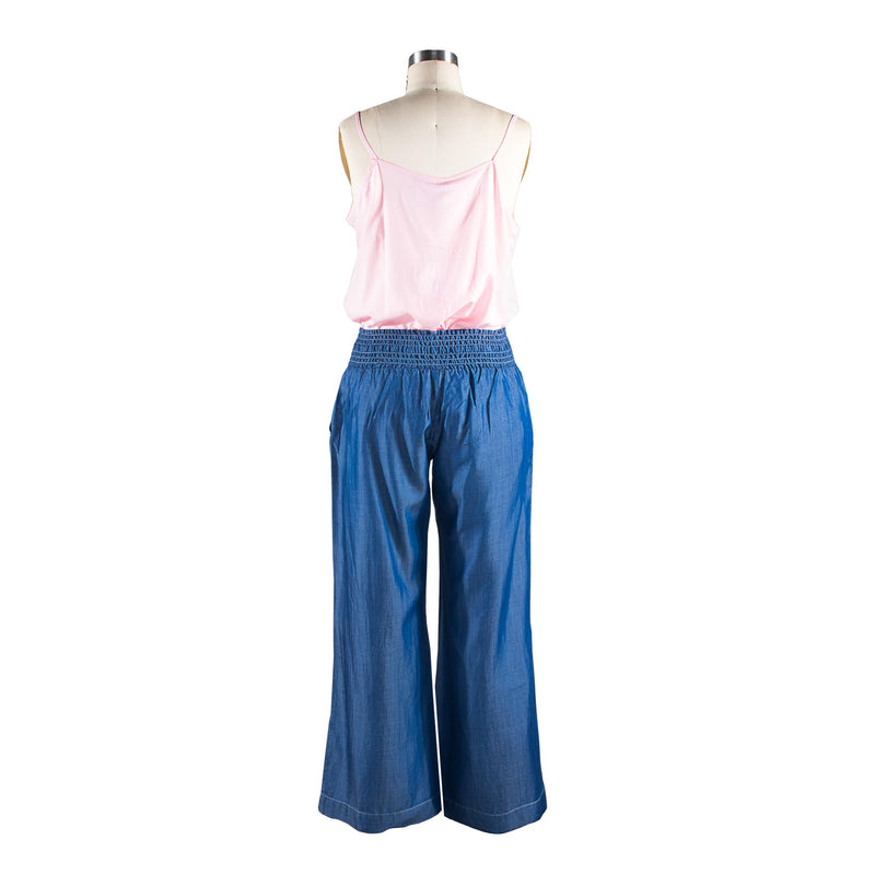 Shirred Trousers - Chambray