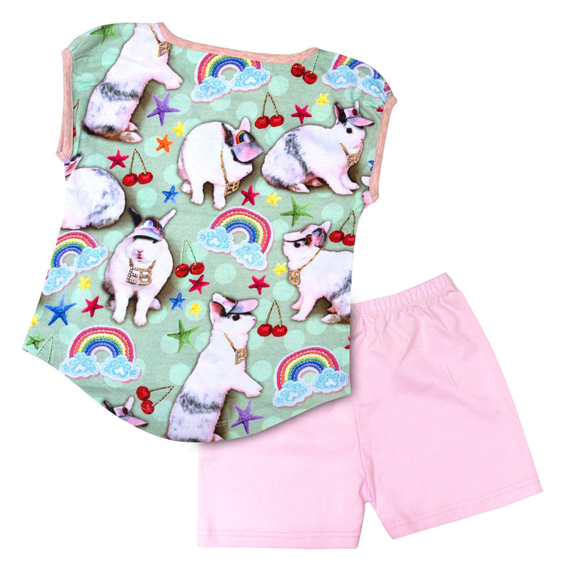 Tank and Shorts Pyjama Set - Easter Bling