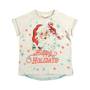 Cuff Raglan T-shirt - Happy Holidays